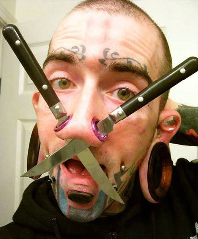 the most grotesque examples of extreme piercings and mutilations ever.